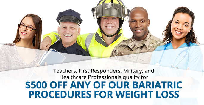 Teachers, First Responders, Military, & Healthcare Professionals Special